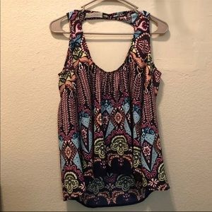 Peach Love Boutique Boho Print Flowy Tank Blouse